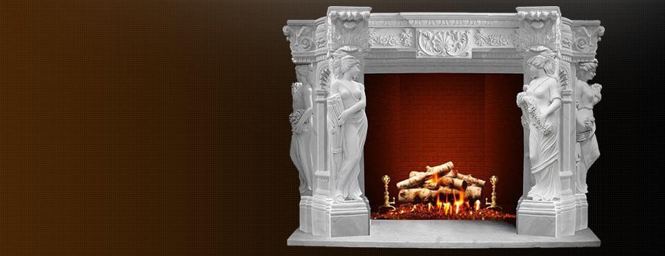 Прикрасьте свій будинок  каміном із мармуру вже сьогодні …